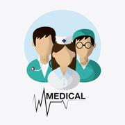 Medical care design. Health care icon. Flat illustration , editable vector - stock illustration