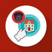 Home automation design. smart house icon. house concept Stock Illustration