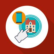 Home automation design. smart house icon. house concept - stock illustration
