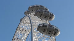 Close up view of the London Eye ferris wheel in London, Uk. Editorial use only. Stock Footage
