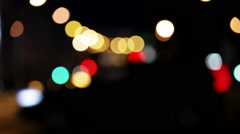 Wandering lights. Blurred city traffic at night - stock footage