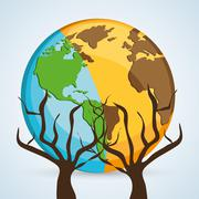 Save planet design. ecology icon. Think green concept - stock illustration