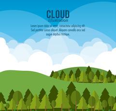 Cloud design. Wheater icon. Colorful illustration - stock illustration