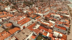 Cinematic shot over Puerto Vallarta, Jalisco - stock footage