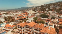 Flying up in Puerto Vallarta, Jalisco. - stock footage
