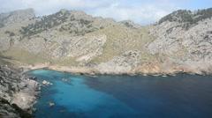 Cala Figuera, Cap Formentor, Majorca, Spain Stock Footage