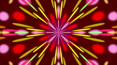 dark red background and colorful circles, kaleidoscope, loop - stock footage