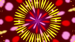 Dark red background and colorful circles, kaleidoscope, loop Stock Footage