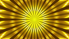 gold background and rays, loop - stock footage