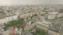 Overview of Revolution Square Bucharest Stock Footage