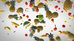 Flying Fresh food background Stock Footage