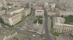 Tilt shot over the Revolution Square Stock Footage