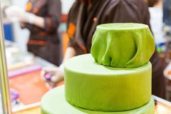 Tasty cake with gum paste - stock photo