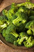 Healthy Green Organic  Raw Broccoli Florets - stock photo