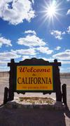 Welcome to California state concept - stock photo