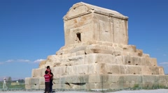 In iran   pasargad the   temple Stock Footage