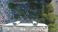 Aerial esplanada dos ministerios Brasília, Distrito Federal capital Brazil Stock Footage