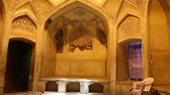 In iran inside the old antique mosque Stock Footage