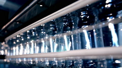 Industry filling water bottles Stock Footage