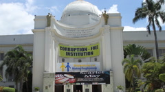 Corruption Free Institution (Cebu City Hall) Stock Footage