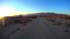 Desert Offroad - Fonts Point Anza Borrego Desert Ca #7 Stock Footage
