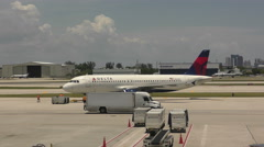 Delta Airlines jet Stock Footage