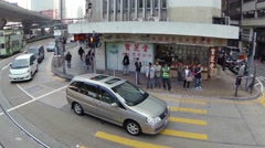 Abstract, slow motion clip of typical urban traffic in Hong Kong. Video 1080p Stock Footage