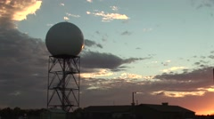 NEXRAD Doppler Radar at Dusk Stock Footage
