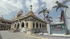 Beautiful Abdul Gaffoor Mosque, with its distinctive architecture. Singapore Stock Footage