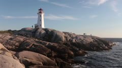 Pegy's Cove Lighthouse Stock Footage