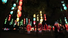 Chinese lanterns during new year festival,Shanghai - stock footage