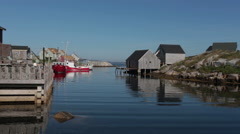 Peggy's Cove Harbor Stock Footage