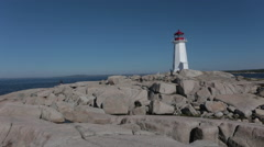 Lighthouse at Peggy's Cove Stock Footage