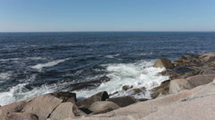 Ocean Front at Peggy's Cove Stock Footage