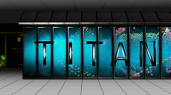 Titan Supercomputer Dolly Shot Stock Footage