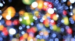 Blurred light background from Chinese new year lantern show - stock footage
