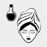 Spa center design. Skin care concept. Flat illustration - stock illustration