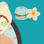 Spa center design. Skin care concept. Flat illustration - stock illustration