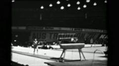 1966: Taki Shibuya Japan women's vault 16th Artistic Gymnastics World Stock Footage