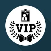 VIP design. Exclusive concept. Flat illustration Stock Illustration