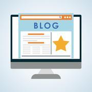Blog design. Social media concept. online illustration Stock Illustration