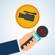 News design. Broadcasting concept. communication icon Stock Illustration