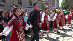 Folklore festival in Bansko, Bulgaria Stock Footage