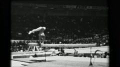 1966: Larisa Latynina Soviet Union women's balance beam 16th Artistic Gymnastics - stock footage