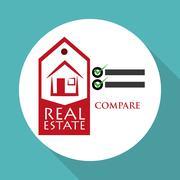 Real estate design. home concept. Property icon - stock illustration