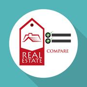 Real estate design. home concept. Property icon - stock illustration