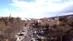 View of urban landscape in Tbilisi, Georgia Stock Footage