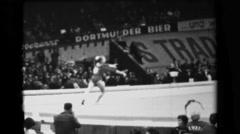 1966: Larisa Petrik Soviet Union women's floor exercise 16th Artistic Gymnastics - stock footage