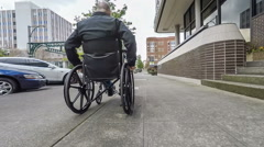 Senior Adult Male in Wheelchair Stock Footage