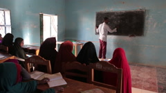 Classroom in Somalia - stock footage